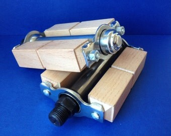Wooden bicycle pedals