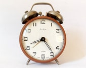 Lovely Twin Bell Vintage  Alarm clock/Made in CCCP /Jantar/Alarm clock / Retro alarm clock /Antique/1970s/Mid century