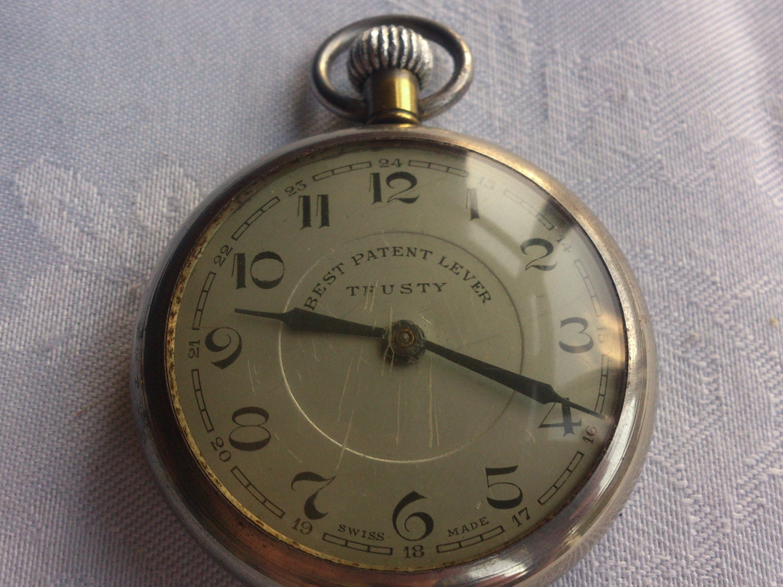 vintage pocket best patent lever trusty