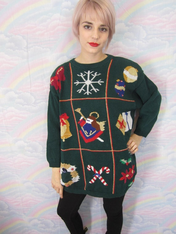 Cheap Ugly Christmas Sweater 80s 90s Tacky Xmas Vintage Angel