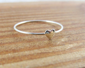 Silver Heart Ring, Sterling Silver Ring, Gift for Her