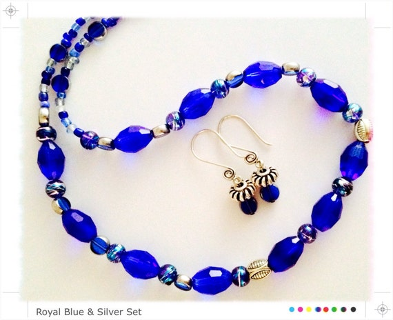 Royal Blue & Silver Set