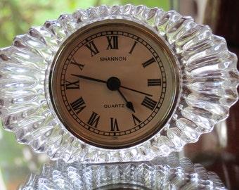 Oval Crystal Based Quartz Clock by Shannon