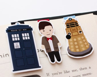 Time Traveller Mini Magnetic Bookmarks 3-pack