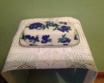 Berry Patch Ceramic Butter Dish