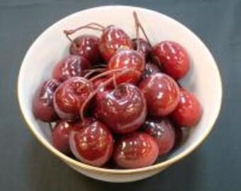 1 Dozen Beautiful Faux Fruit  Cherry Clusters- Free Shipping