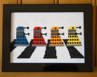 Daleks on the Abbey Road (Paradigm Daleks) PDF PATTERN ONLY
