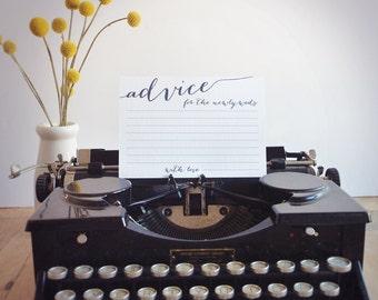 Advice Cards for Newlyweds - Wedding Advice Cards - Printable