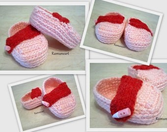 Knit baby shoes for 0-6 months