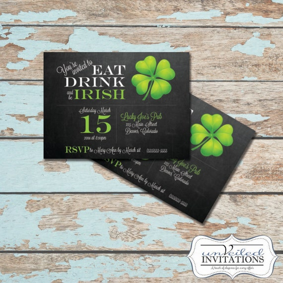 Printable St Patrick's Day Invitation - Luck of The Irish