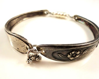 bracelet clé plate items similar to betty lou vintage spoon bracelet 2899