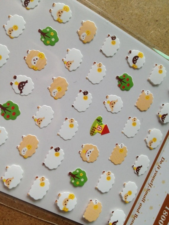 Cute sheep little fat lamb one point seal sticker mini icon like this item solutioingenieria Images