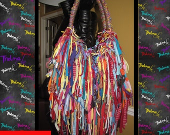 Fringe Handbag,Fringe purse,fringe tote,fringe bag,Custom Made,One Of A Kind, Hippie,BoHo,Funky,Purse