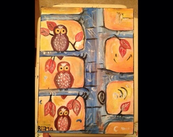 Owl to Owl ORIGINAL PIECE