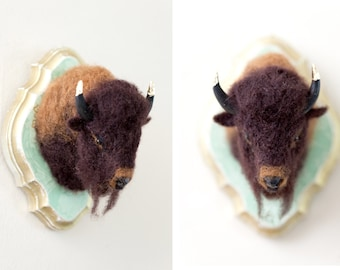 Needle Felted Bison - Buffalo