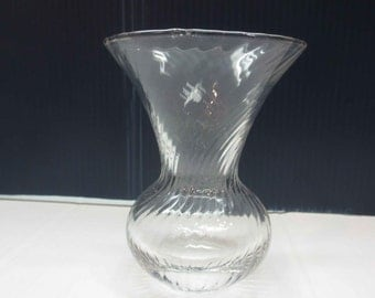 Small Clear Glass Vase