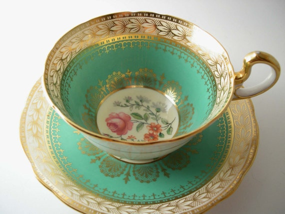 Rare Antique 1920 S Aynsley Tea Cup And Saucer With