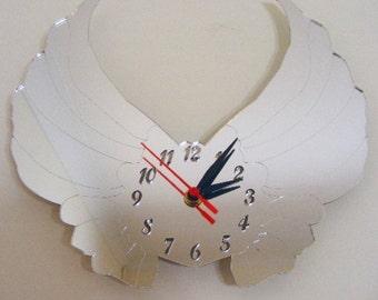 Angel Wings Clock Mirror