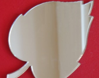 Leaf Shaped Mirrors - 5 Sizes Available. Also available in packs of 10 small Leaves for Craftwork and Decorative Use