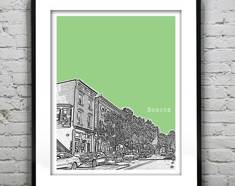 Beacon New York Poster Art Skyline Print NY Hudson Valley
