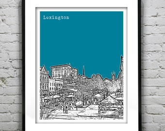 Lexington Kentucky Poster Art Print KY