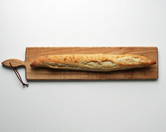 26 inch- French Loaf Bread Board- Oak Cheese Board by Red Maple Run