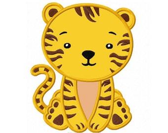 Tiger Baby Applique Machine Embroidery Design NO:0166