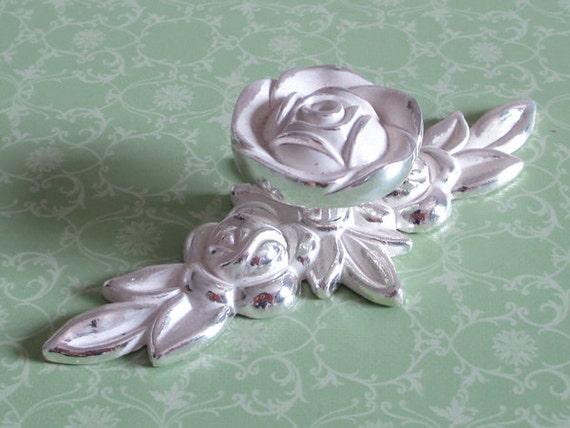 rose blume m bel knauf kn ufe m belkn pfe silber von lynnshardware. Black Bedroom Furniture Sets. Home Design Ideas