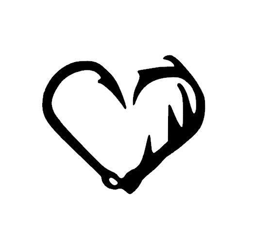 Flash Sale 50% off Fish Hook Antler Heart Heart by BackRoadShop