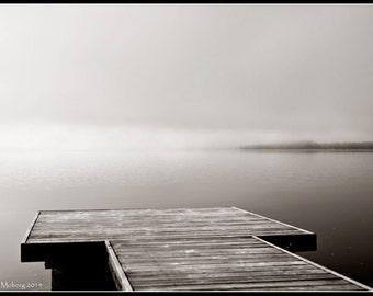 At the lake - Black and White Sephia toned Photographic Fine Art Print
