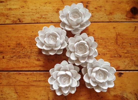 Bridal party gifts, Lotus flower ring dish, set of bridesmaids gifts