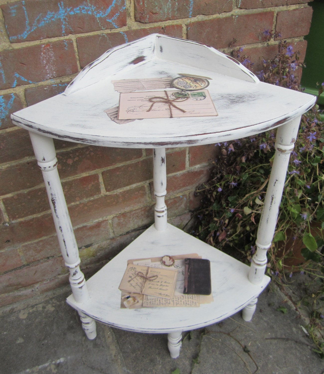 Shabby Chic Corner Coffee Table