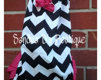 Chevron Pillow case Romper