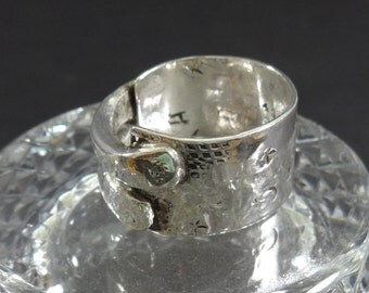ARTISAN Pure Silver Double Banded and Stamped Ring-