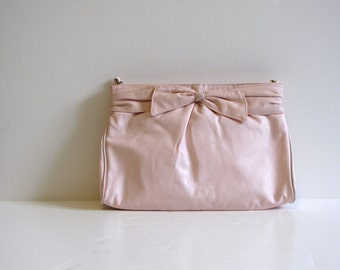Vintage Pastel Pink Spring Easter Clutch Purse