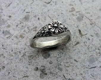 Blooming Flowers Ring - Handmade in Sterling Silver or 14k Gold