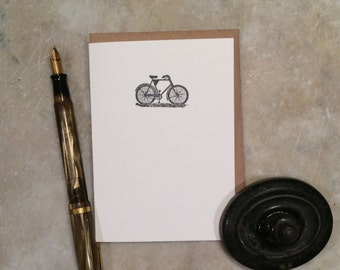 Bike letterpress cards- set of 6