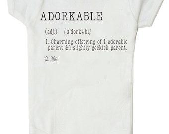 ADORKABLE - Funny Geek Baby Bodysuit