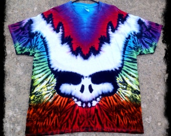 Grateful Dead Tie Dye Tee Shirt- Stealy Bear Scruff