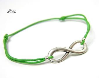 Bracelet green infinity