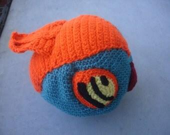 Hawlucha Inspired Crocheted Pokemon Beanie