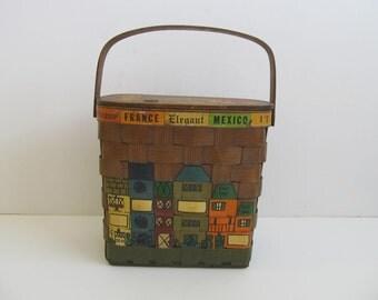 Vintage Handbag, Cara Nan, Wooden Purse,  Cara Nan Wooden Purse, Cara Nan Europe, Wooden Handbags