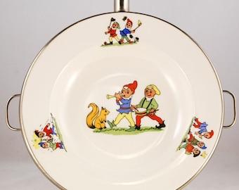 Child's Feeding Dish Pixies or Dwarfs