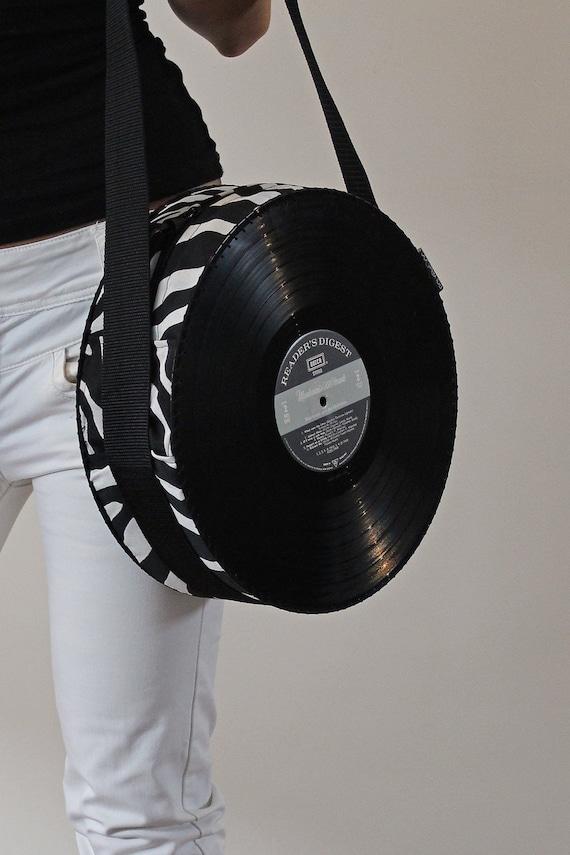Items Similar To Vinyl Record Handbag Purse Bag