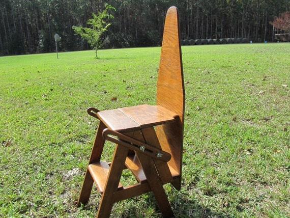 Wood Chairironing Boardstep Ladder Folk By Karenschicnshabby