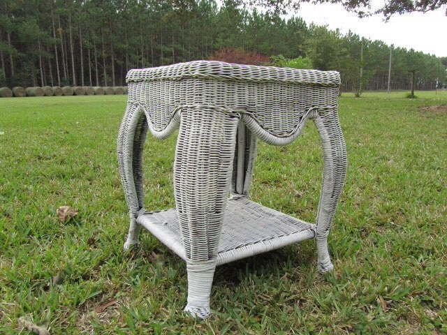 nightstand vintage table vintage wicker outdoor furniture furniture