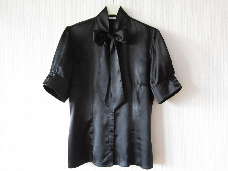 Black Blouse Bow Tie 14