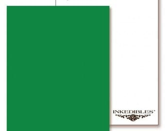 Inkedibles Premium Frosting ChromaSheets: 5 pack Letter Size (Green)