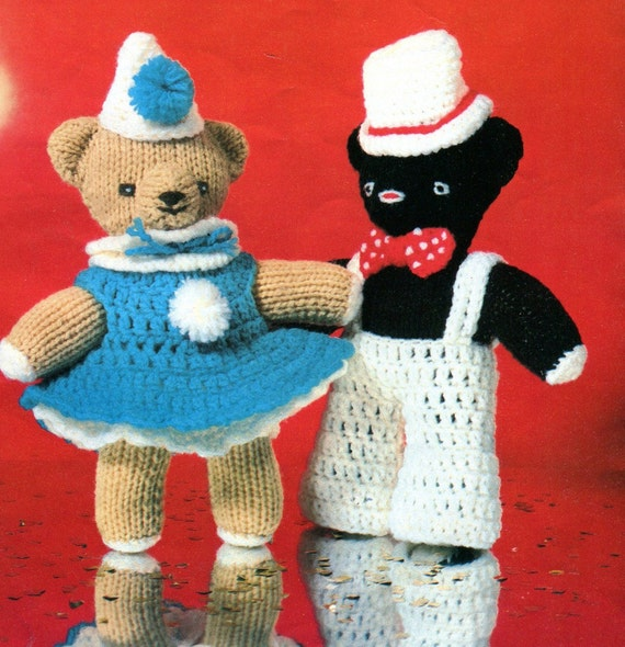 Knitted Teddy Bear Pattern Books : KNITTING & CROCHET Pattern Book TEDDY Bears by KenyonBooks