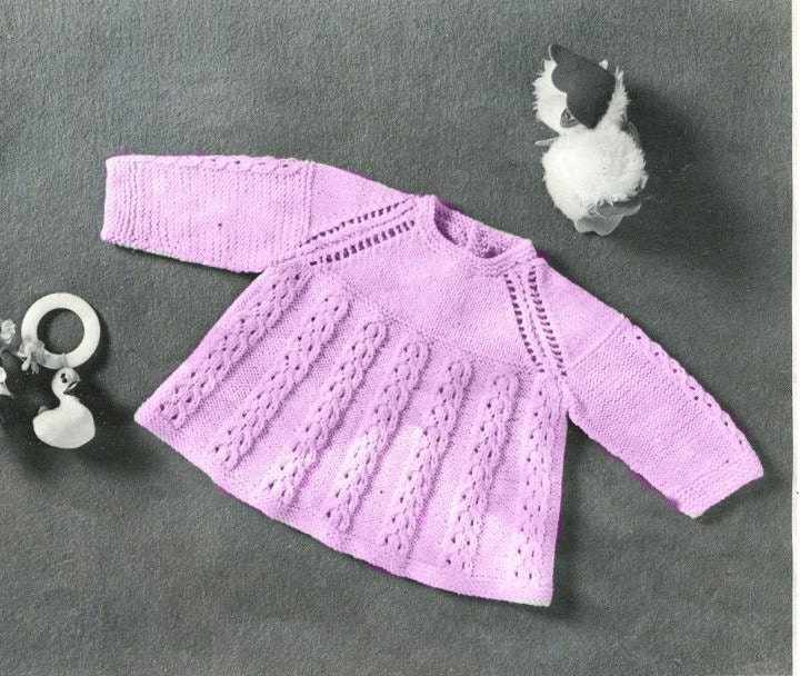 Knitting Pattern Angel Top : INSTANT ANGEL TOP Pdf Knitting Pattern Birth to 24 Months 3